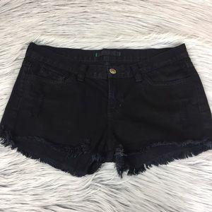 J Brand black denim jean shorts 28